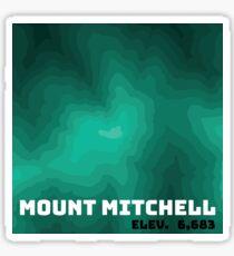 Mount Mitchell Topography Graphic Sticker