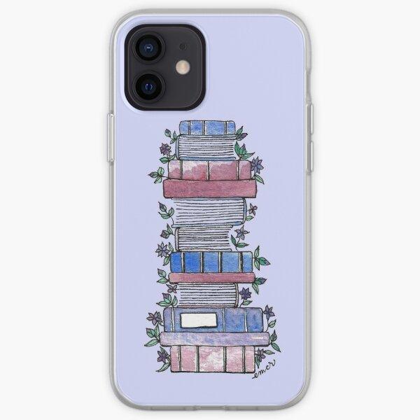 Libros floridos Funda blanda para iPhone
