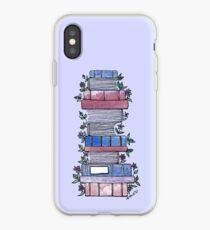 Vinilo o funda para iPhone Libros floridos