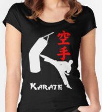 Karate Dark Women's Fitted Scoop T-Shirt