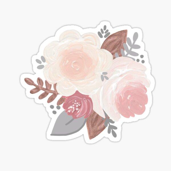 Rose Gold Floral Sticker
