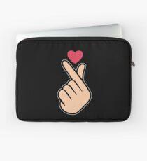 K Pop Love Heart Hand Sign Laptop Sleeve