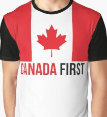 Canada First Canadian Flag Maple Leaf #MCGA Make Canada Great Again Patriots Big Flag #CanadaFirst #TrudeauOut Graphic T-Shirt