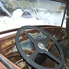 In side Old Truck by cdcantrell