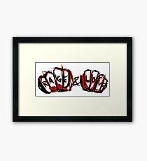 Rage and Love Framed Print