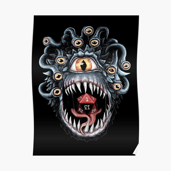 In the Beholder D20 Poster