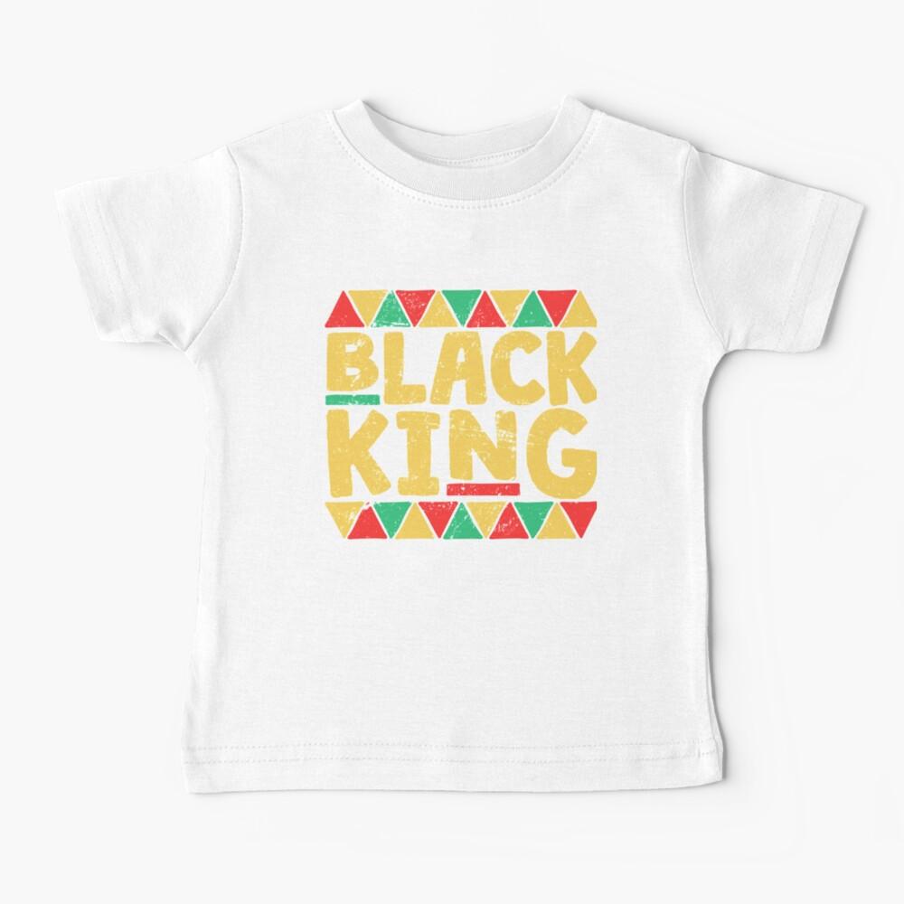 Black King Black History Month T-Shirt African Pride Shirt Baby T-Shirt