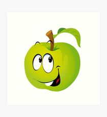 Funny Apple Art Print