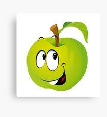 Funny Apple Canvas Print