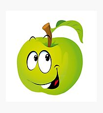 Funny Apple Photographic Print