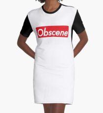 Obscene Graphic T-Shirt Dress