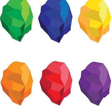 Infinity Gauntlet - MCU Stones by SkipHarvey