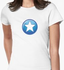 Hero halftone Women's Fitted T-Shirt