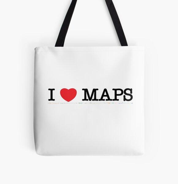 I love maps All Over Print Tote Bag