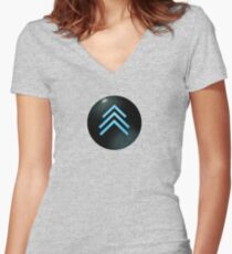 Resistance halftone Women's Fitted V-Neck T-Shirt