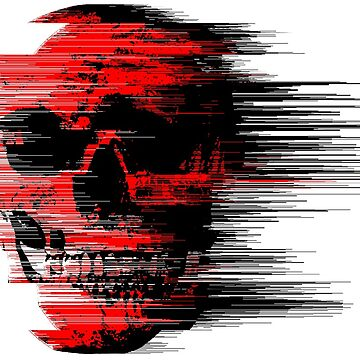 glitch art skull by DevinLarson