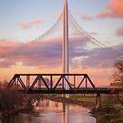 Dallas Bridge Sunset by josephhaubert