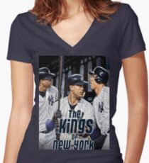 New York Yankees - Stanton, Sanchez,  Judge Women's Fitted V-Neck T-Shirt