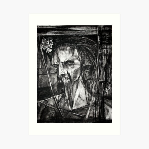 self portrait as sung by Dulli Art Print