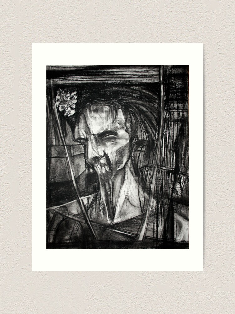Alternate view of self portrait as sung by Dulli Art Print