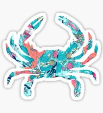 Maryland Crab Lilly Pulitzer Sticker
