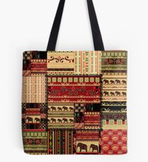 African print with elephants Tote Bag