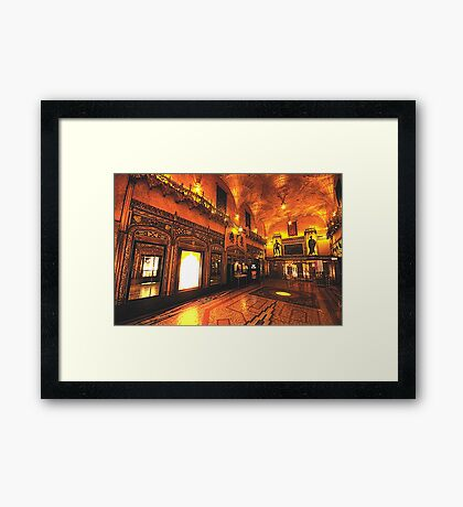 They Don't Build Them Like they Used To - The State Theatre, Sydney - The HDR Experience Framed Print