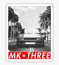 "Golf MK3 MK3 ""Redstriped"" Sticker"