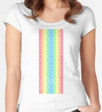 triangle patern Women's Fitted Scoop T-Shirt