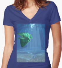 ff7 dreaming #1 Women's Fitted V-Neck T-Shirt