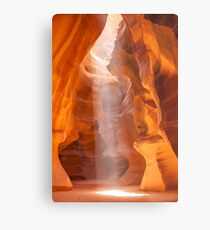 ANTELOPE CANYON Unique Lightbeam Metal Print
