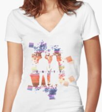 U2 experience colored 1 Women's Fitted V-Neck T-Shirt