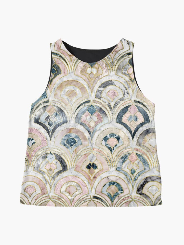 Alternate view of Art Deco Marble Tiles in Soft Pastels Sleeveless Top