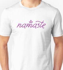 Namaste- purple Unisex T-Shirt