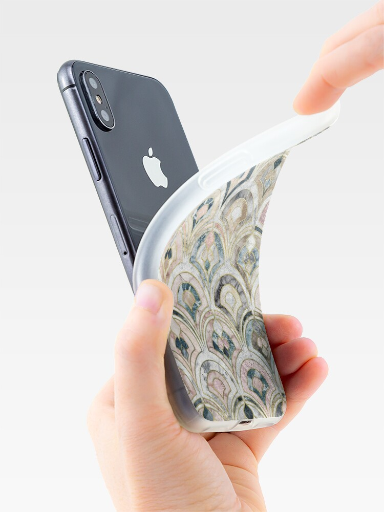 Alternate view of Art Deco Marble Tiles in Soft Pastels iPhone Cases & Covers