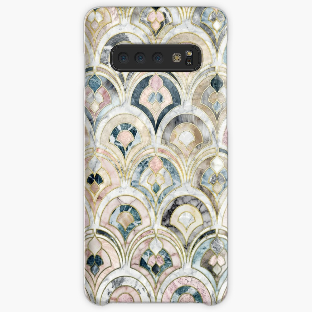 Art Deco Marble Tiles in Soft Pastels Case & Skin for Samsung Galaxy