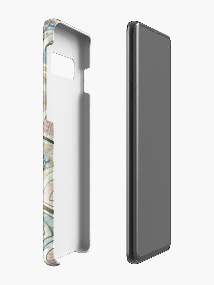Alternate view of Art Deco Marble Tiles in Soft Pastels Case & Skin for Samsung Galaxy