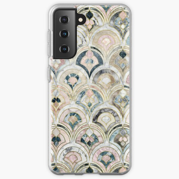Art Deco Marble Tiles in Soft Pastels Samsung Galaxy Soft Case