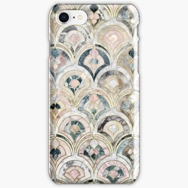 Art Deco Marble Tiles in Soft Pastels iPhone Snap Case