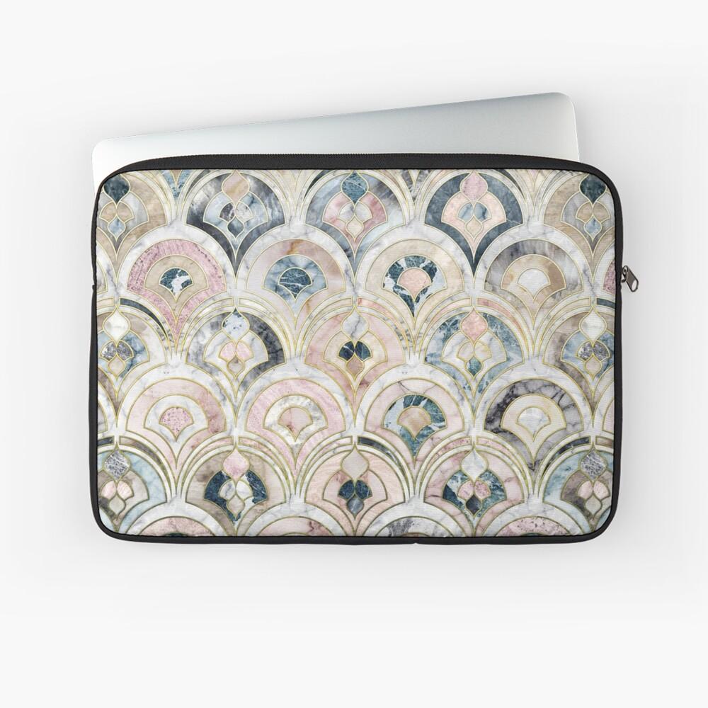 Art Deco Marble Tiles in Soft Pastels Laptop Sleeve