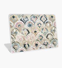 Vinilo para portátil Azulejos de mármol Art Deco en pasteles suaves