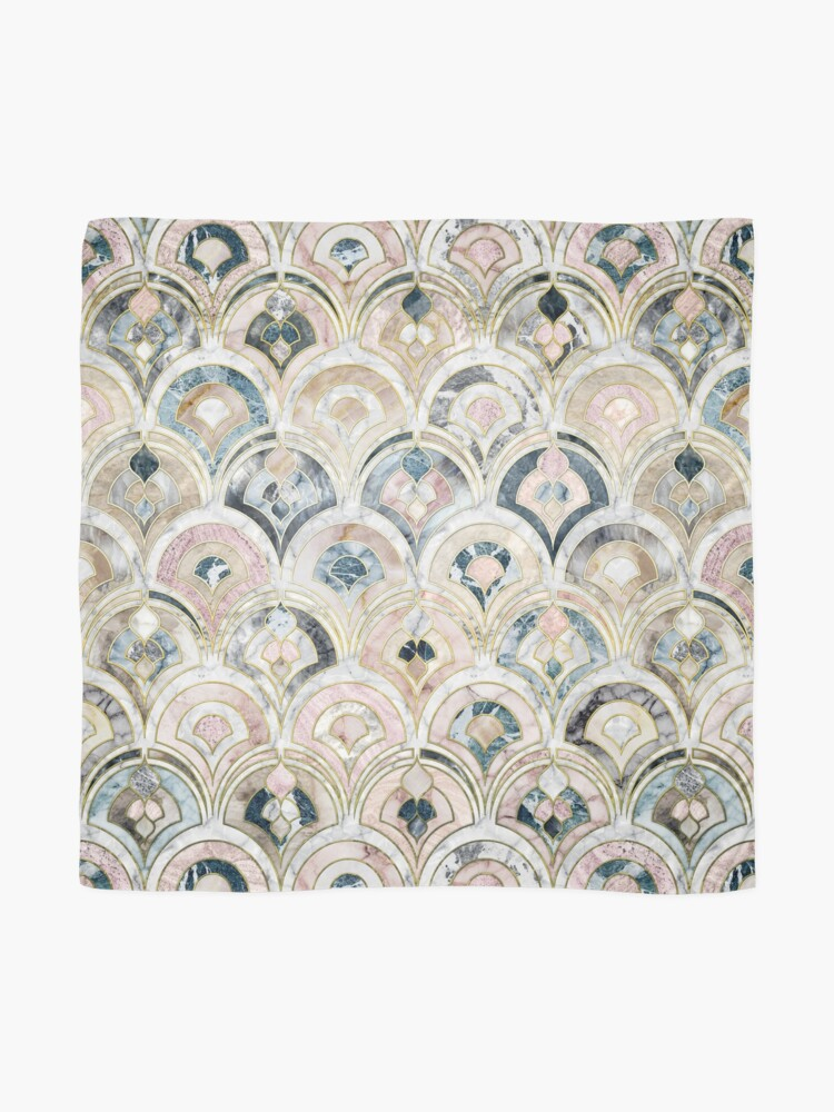 Alternate view of Art Deco Marble Tiles in Soft Pastels Scarf