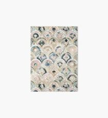 Art Deco Marble Tiles in Soft Pastels Art Board