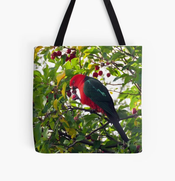 King Parrot has a snack All Over Print Tote Bag