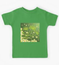 Green floral background Kids Clothes