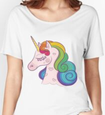 Cute creative graphic unicorn Women's Relaxed Fit T-Shirt