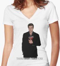 Richard Castle Women's Fitted V-Neck T-Shirt