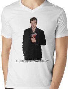 Richard Castle Mens V-Neck T-Shirt