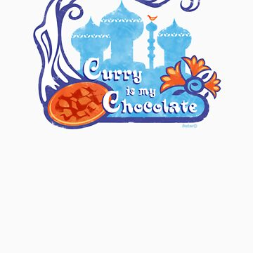 'Curry Is My Chocolate' Vintage Design by Bootee