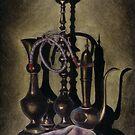 Brass Vases by Lou Van Loon